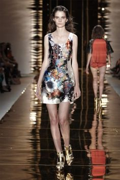 Cynthia Rowley - Spring 2012, lovin' this satin'y' silk - a lot like my hemp silk, and her patterns are exquisite always.
