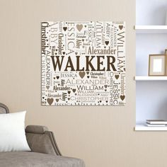 Family Word Art Canvas-Personalized Family Wall Canvas