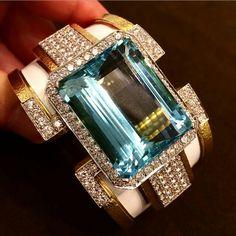 Gold And Silver Rings, Gold Diamond Rings, Diamond Bracelets, Aquamarine Jewelry, Gemstone Jewelry, Gold Jewelry, Diamond Jewelry, Jewellery, Candy Jewelry