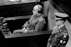 December 1947: Former Japanese prime minister and minister of war Hideki Tojo (1884 - 1948) takes the stand to testify in his own defense at the war crimes trial in Tokyo. Tojo was convicted and executed.