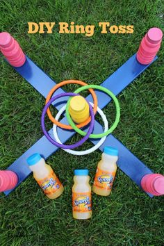 DIY Ring Toss, Have a little fun your #SunnyD bottles!! #ad #wherefunbegins