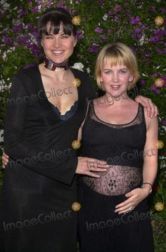 "Lucy Lawless and Renee O'Connor at trhe viewing party for the final episode of ""Xena: Warrior Princess,"" Museum of Television and Radio, Beverly Hills, 06-19-01"