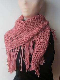 Rose Knitted Scarf/Pink Scarf/Knitted Scarf/Pink Shawl/Knitted Shawl/Knit Shawl/Bohemian Shawl/Knit Scarf/Bohemian Scarf/Rose Shawl/HipScarf  DESCRIPTION A beautiful hand knitted scarf that can also be worn as a shawl, a hip scarf or a head covering. This lovely accessory adds style and flare to any outfit that you pair it with.  Each item from GypsyStarCreations is handmade and knit or crocheted with love.  While most items are ready to ship and one of a kind, if you are interested in an…