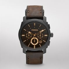 FOSSIL® Watch Styles Casual Watches:Watch Styles Machine Leather Watch - Brown FS4656