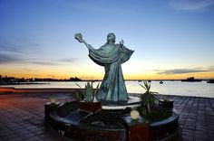 Beautiful statue on the Malecon of La Paz, Baja California Sur, Mexico.