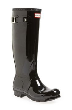 Hunter 'Original Tall' Gloss Rain Boot (Women) available at #Nordstrom- I NEEEEEED THESE RAIN BOOTS.