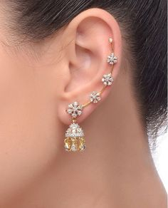 Diamond Jewelry Women's New Choice Of Jewellery Is Artificial Jewellery – Fashion Industry Network Ear Jewelry, Cute Jewelry, Wedding Jewelry, Diamond Jewelry, Gold Jewelry, Diamond Earrings, Jewelry Making, Jewelry Box, Jewelry Drawer