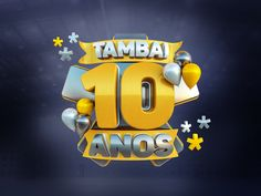 Tambaí Chevrolet - Selo 10 Anos on Behance Typography Poster Design, Typography Inspiration, Typography Logo, Sports Graphic Design, Freelance Graphic Design, Cinema 4d, Ad Design, Logo Design, 3d Logo