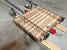 DIY Butcher Block Cutting Board Clamps