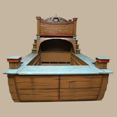 Im fairly certain I need this childrens pirate ship bed!! It even has an area for me to hide and play!