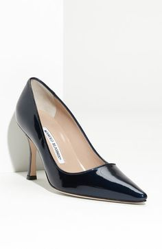 Manolo Blahnik 'Newcio' Pump, love it in nude and black. Best shoe ever made.