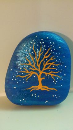 Painted rock  Tree by PlaceForYou on Etsy