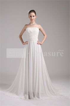 Fashionable Spring/ Fall Natural Sheath/ Column Zipper-back Beach Wedding Dresses Wholesale Price: US$199.99