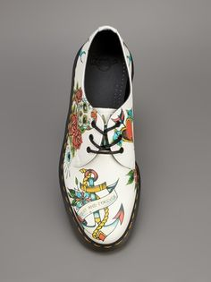 DR. MARTENS - tattoo print lace up shoe 7
