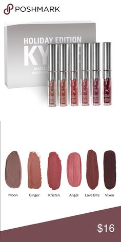 KRISTEN - Kylie Mini Lip Kit Holiday Edition 100% authentic, brand new. This listing is for one mini (color stated in title). NO TRADES OR PAYPAL. Price is firm. Kylie Cosmetics Makeup Lipstick