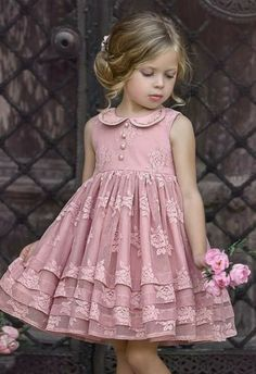 Cute Little Girl Dresses, Baby Girl Party Dresses, Dresses Kids Girl, Kids Outfits, Flower Girl Dresses, Girls Frock Design, Baby Dress Design, Baby Girl Dress Patterns, Frocks For Girls