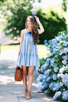 LOVE this dress for summer and the lace-up heels