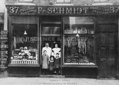 Fr Schmidt Delicatessen, Charlotte Street, Soho, 1901