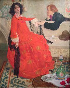 Carole's Chatter: Faustine by Maxwell Armfield (1904) Edwardian Era, Victorian Era, Digital Museum, Romantic, Portrait, Disney Princess, Gallery, Pretty, Painting