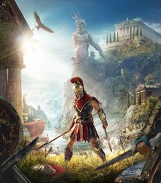 Cover Art from Assassin's Creed Odyssey #illustration #artwork #gaming #videogames #characterdesign