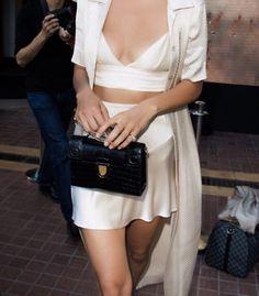 white silk matching set