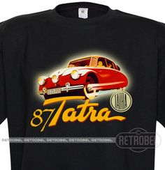 Streamlined car T-Shirt Tatra 87 Mens auto T-shirt by retrobel1