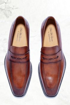 These sleek shoes are the epitome of sophistication from our own #SaksFifthAvenueCollection by the #Magnanni collection #SaksMen