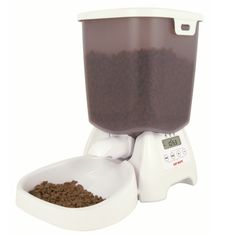 The CAT MATE feeder is designed to ensure your pet's recommended dry food allowance, in order to minimise the health risks and costs of overfeeding. Our carefully developed dry food feeder allows you to program Food Feeder, Cat Feeder, Cereal Storage, Cat Food Brands, Automatic Feeder, Food Suppliers, Food Names, Home Food, Small Dogs