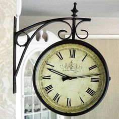 Antique train station clock