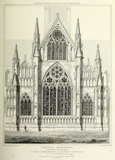 East End Elevation of the Cathedral, Lincoln