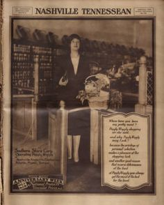 Full page ad for grocery store, Piggly Wiggly. Nashville Tennessean, 1928 September :: Picturing Nashville in Rotogravure,