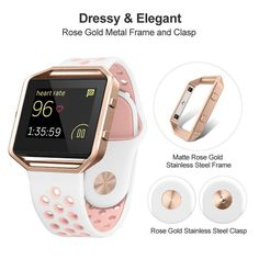 EZCO Compatible Fitbit Versa Screen Protector Waterproof Tempered Glass Screen Protector Cover Saver Compatible Fitbit Versa Smart Watch Resist Clear HD Anti-Bubble - New Technology Guide Apple Watch Series 2, Apple Watch Bands, Fitness Watches For Women, Apple Watch Accessories, Wearable Technology, Sporty Look, Gadgets, Fitbit Bands, Frame