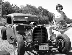 Old Black and White picture of a Hot Rod     View EXCLUSIVE Images on Our Pinterest Page- Follow Us - http://pinterest.com/pin/504332858241704224/    Ride safe,    JB	  www.LightningCustoms.com Motorcycle Event Calendar   http://www.lightningcustoms.com/motorcycle-events.html