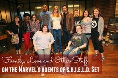 "EXCLUSIVE INTERVIEW with Agents of S.H.I.E.L.D. cast. Bloggers and Agents Of S.H.I.E.L.D. actors in Agent Coulson's office on the Agents Of S.H.I.E.L.D. Set.. Actors from L-R Elizabeth Henstridge (""Simmons""), Henry Simmons (""Mack""), Adrianne Palicki (""Bobbi""), Brett Dalton (""Grant Ward""), Iain De Caestecker (""Fitz) Photo Credit: ABC/Adam Taylor #AgentsOfSHIELD #ABCTVEvent"