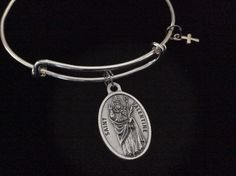 Patron Saint of Happy Marriage and Love Saint Valentine Expandable Bracelet Inspirational Jewelry Adjustable Bangle Catholic Medal Meaningful Gift