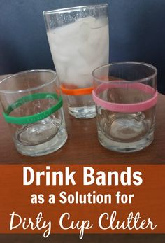 Need a solution for dirty cup clutter Review of Drink Bands at ASlobComesClean.com