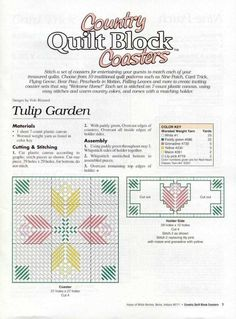 COUNTRY QUILT BLOCK COASTERS PG 2
