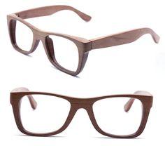 handmade wood wooden eyeglasses glasses frame 1055 c02 by TAKEMOTO, $70.00