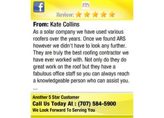 As a solar company we have used various roofers over the years.  Once we found ARS...