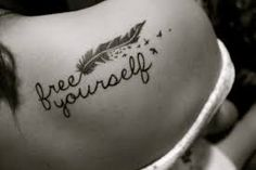 Free Yourself Tattoo Quotes on Shoulder - Feather Tattoo for Girls – The Unique DIY tattoo quotes which makes your home more personality. Collect all DIY tattoo quotes ideas on feather tattoo for girls, shoulder quote tattoos to Personalize yourselves. Tattoo Plume, Et Tattoo, Sick Tattoo, Tattoo Care, Feather Tattoos, Piercing Tattoo, Tattoo Quotes, Tatoos, Bird Tattoos