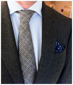 mostlyharmlessstuff:    Stripes, checks and dots. Cotton, wool and silk.