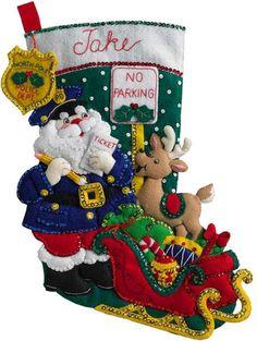 www.123stitch.com Felt_Applique_Christmas_Stockings.html