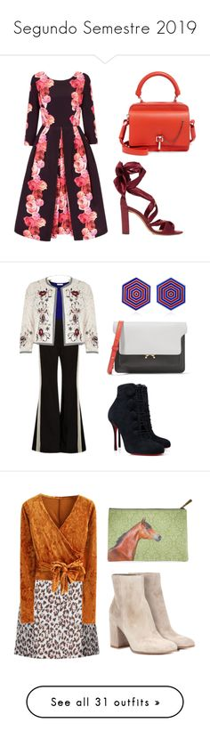 """Segundo Semestre 2019"" by jaquemel ❤ liked on Polyvore featuring Alexandre Birman, Carven, E L L E R Y, River Island, Marni, Christian Louboutin, Silhouette, Christopher Kane, WithChic and Gianvito Rossi"