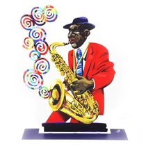David Gerstein Signed Sculpture - Saxophonist