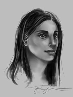 Face study by SilverVanadis