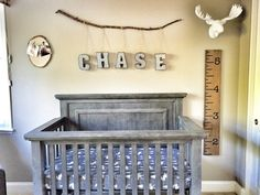 Urban Cabin Nursery - love the mix of rustic and modern in this sweet space for baby boy!