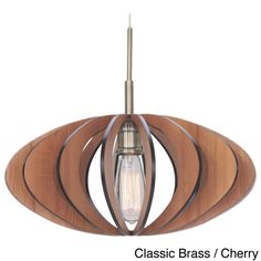 Woodbridge Lighting Canopy 1-light Aqua Tech Wood Slat Mini Pendant