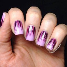 Radiant Orchid Nail Designs - the colour for 2014...brush stroke design...x