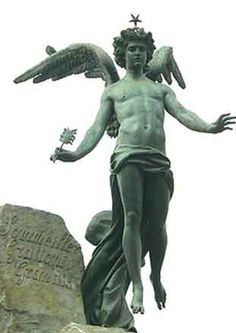 Image result for statue of lucifer in Turin