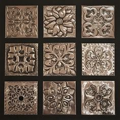 Online metal embossing courses for complete beginner to advanced students. Step-by-step video tutorials. Aluminum Foil Art, Aluminum Can Crafts, Metal Crafts, Craft Stick Crafts, Metal Projects, Metal Embossing, Metal Stamping, Embossing Folder, Embossing Techniques
